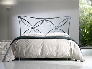 Double bed Alice, Cama con cabecero de hierro, de estilo ligero, varios acabados