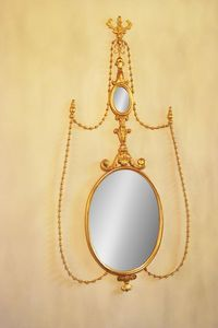 ESPEJO ART. CR 0043, Espejo oval en madera tallada de hoteles de lujo