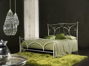 Klimt, Metal clásico cama doble, corte por láser
