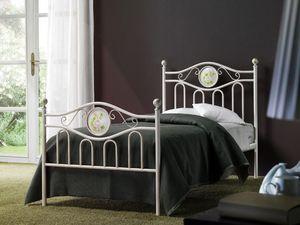 Lina Single Bed, Cama de hierro clásico para la habitación de hotel