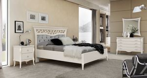 MONTE CARLO / cama, Cama clásica contemporánea con cabecero capitonnè