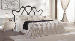 Nastro cama, Cama doble en aluminio, pulido a mano, para hoteles