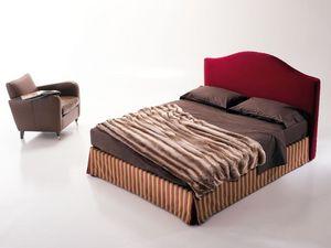 Regolo, Cama tapizada, con caja de almacenamiento, para el dormitorio