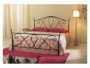 Selene, Hierro cónico cama doble, acabado antiguo