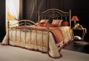 SOFIA 1289 BRO, Cama de bronce con tubos lisos, para el dormitorio