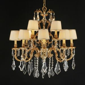Art. 252 cp, Gran lámpara con colgantes de cristal