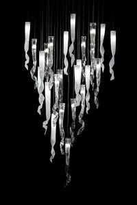 Comete lámpara colgante, Araña en vidrio de Murano