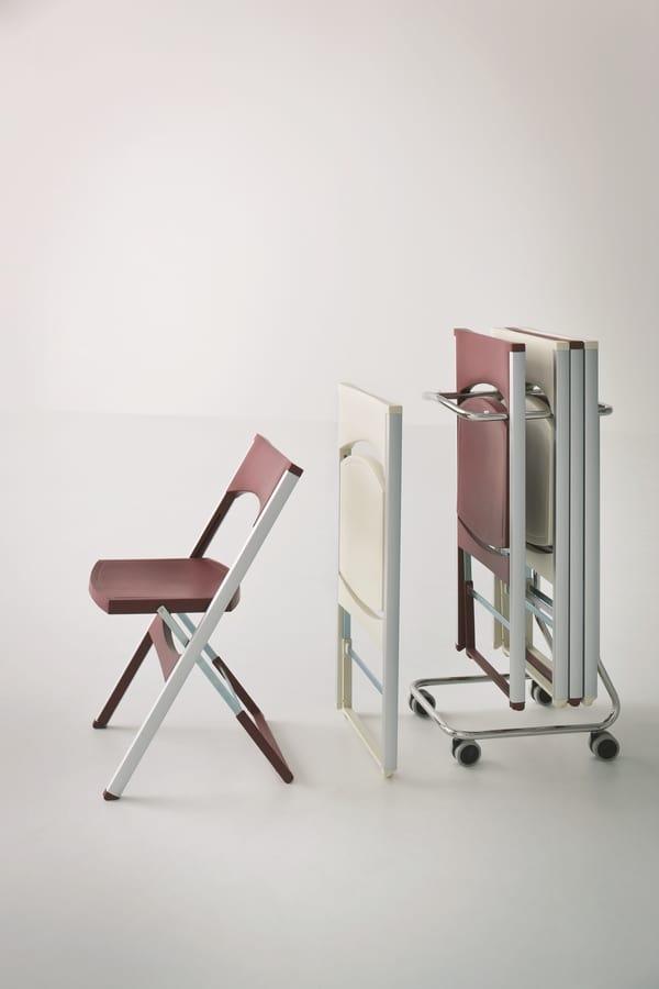 Compact cod. 60, Carro de metal para el almacenamiento de sillas
