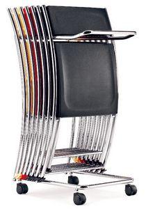 CS 071, Carro de metal para sillas de conferencia