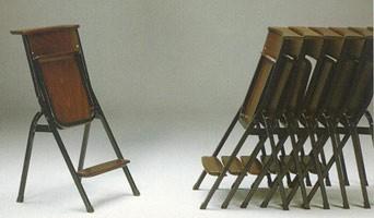 1273 N, Silla simple con estructura de metal, para los lugares de culto