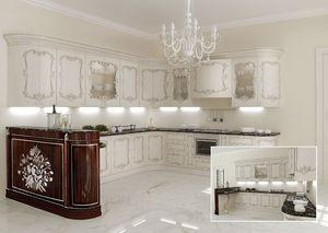 KT373, Cocina clásica, encimeras de mármol, para villas clásicos