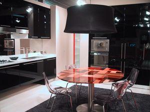 BLACK, Cocina sofisticada con muebles suspendidos, en varios colores