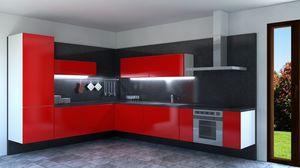 Convivio, Cocina de esquina lacada en rojo