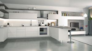 Ice, Cocina lacada en blanco, elegante y tecnológica