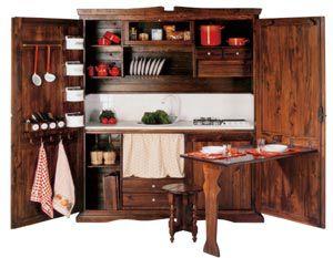 Art. 314, Cocina monobloque equipada, en estilo country.