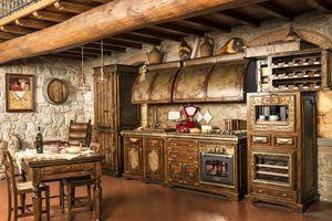 Art. 623, Cocina rústica, acabado en edad Corten