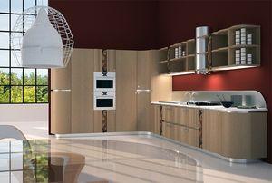 CUC01 Mistral, Cocina funcional y elegante, con incrustaciones de madera y metal