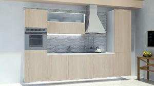 Oslo Ardesia, Cocina modular, con el panel de pared de roca de pizarra
