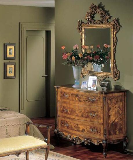 3265 CHEST OF DRAWERS, Cofres de madera con 3 cajones, estilo clásico de lujo