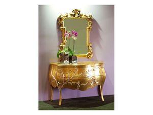 Art. 1603 Jasmine, Cómoda clásico, acabado pan de oro, para las habitaciones de hotel