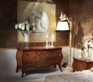 Art. 351, Mueble con cajones de madera decorada a mano, estilo clásico