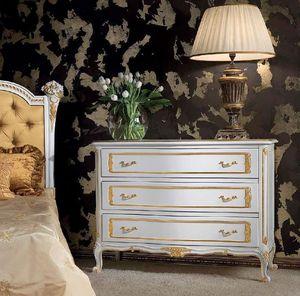 Art. 357/L, Mueble con cajones de madera decorada, de estilo clásico