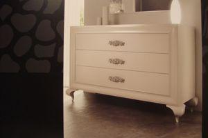 Art. 778, Blanca Cómoda lacada adecuado para dormitorios lusury