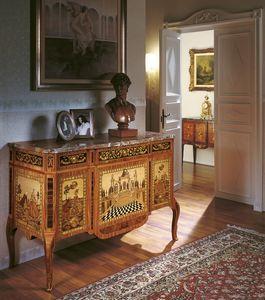 Art. 90, Aparador de lujo clásico, con marquetería, para sala de entrada