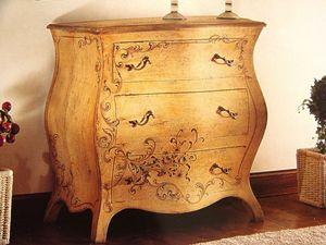 Art. 902, Patinado pecho de cajones con decoraciones, estilo clásico