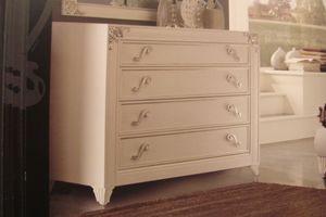 Art. IR092, Perla blanca lacada cómoda para los dormitorios