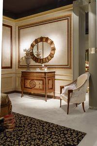 CO20 Arts pecho de cajones con tapa de mármol, Cómoda clásica con tapa de mármol ideales para villas