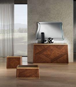 CO22 Cómoda Contemporary, Nogal cómoda para habitaciones clásicas