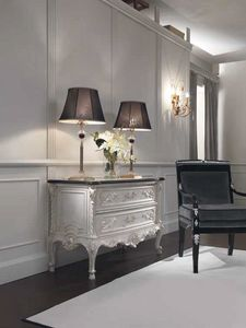 Opale cómoda, Cómoda de estilo clásico con encimera de mármol