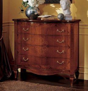 Da Vinci pecho de cajones, Nogal cómoda en estilo clásico y lujoso
