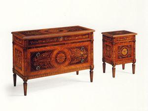 De Foe, Clásico aparador de madera maciza con 3 cajones embutidos