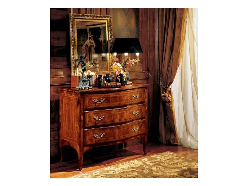 Gardenia chest of drawers 822, Lujo clásico de pecho de cajones para el dormitorio