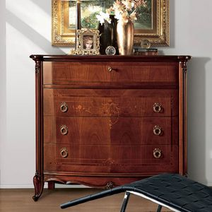Parigi pecho de cajones, Lujo comoda clásico de 4 cajones, tallas hechas a mano