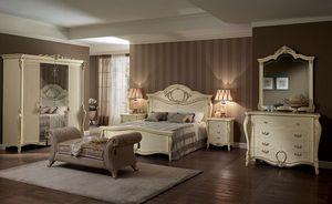 Tiziano cómoda, Tocador clásico, cuatro cajones, para los dormitorios y hoteles de lujo