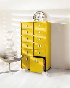 TOOLBOX comp.07, Pecho amarillo de cajones para el hogar y la oficina