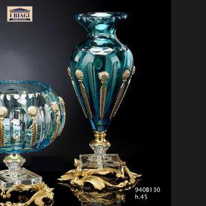 940Bxxx, Ornamentos de cristal turquesa y transparente