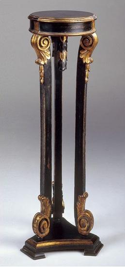 Art. 1181, Mesa para lámpara, estilo Luis XVI, acabado antiguo