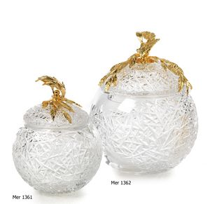 Art. MER 1361 - 1362, Recipientes de cristal decorativos