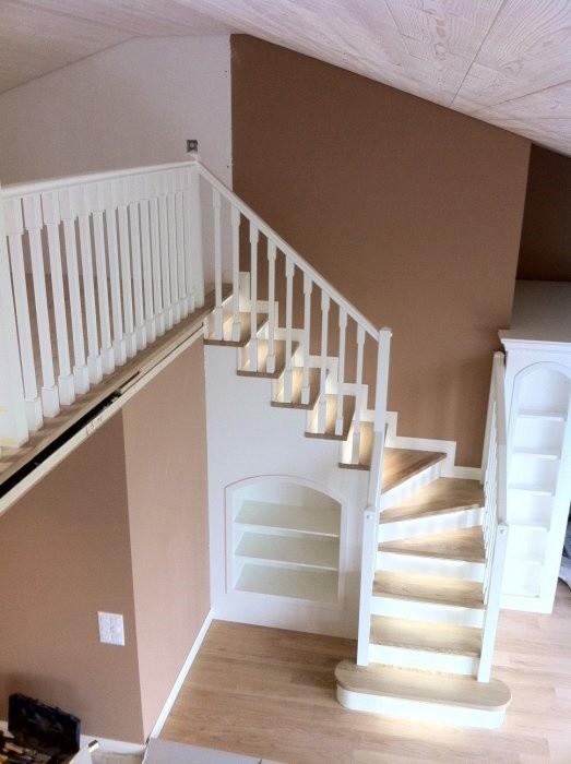 Escaleras blancas, Escaleras en estilo clásico, para uso residencial y hoteles
