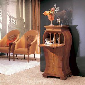 MB21 Iris, Clásico gabinete, madera con incrustaciones de nácar