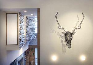 Cervo, Accesorios de mobiliario moderno, la cabeza en forma de ciervo