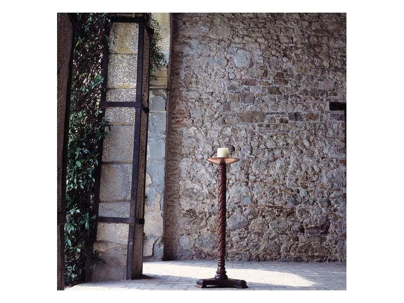 Eros, Sostenedor de vela con la columna de madera y placa de cobre