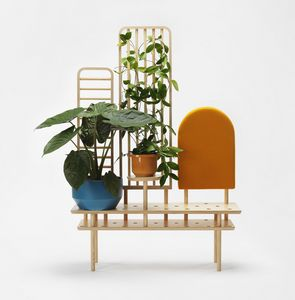 Etta screen, Mueble multifuncional en madera
