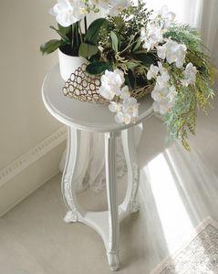 Giulietta Art. 3616 - 3416, Soporte para jarrón lacado blanco