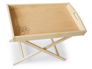 Mesa-Bandeja, Estructura de soporte para la bandeja en madera de haya