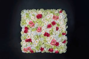 Rose Flower Wall, Paredes florales decorativas